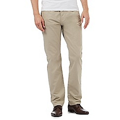 Jeff Banks - Light tan textured trousers