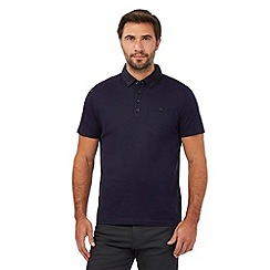 Jeff Banks - Big and tall dark purple pin dot polo shirt