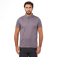 Jeff Banks - Big and tall mauve plain polo shirt