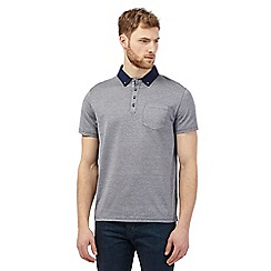 Jeff Banks - Blue printed polo shirt