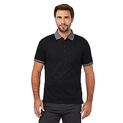 Jeff Banks - Big and tall black plain polo shirt