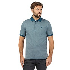 Jeff Banks - Dark turquoise teal stripe polo shirt