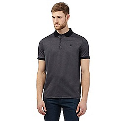 Jeff Banks - Navy textured polo shirt