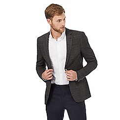 Jeff Banks - Big and tall grey overcheck blazer