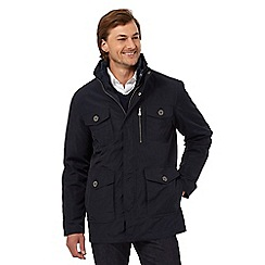 Jeff Banks - Navy 2-in-1 square pocket jacket