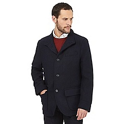 Jeff Banks - Big and tall navy wool blend jacket