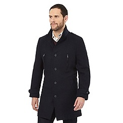 Jeff Banks - Navy double-breasted overcoat