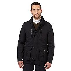 Jeff Banks - Navy double collar jacket