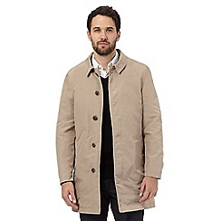 Jeff Banks - Big and Tall beige button down mac coat