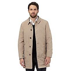 Jeff Banks - Beige button down mac coat