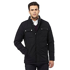 Jeff Banks - Black quilted jacket
