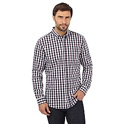 Jeff Banks - Big and tall purple and blue checked print shirt
