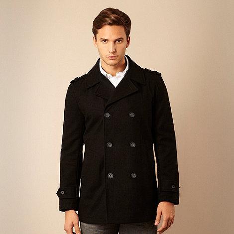 Jeff Banks - Designer black double-breasted jacket