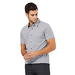 Jeff Banks - Big and tall grey geometric print regular fit shirt