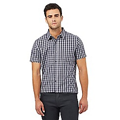 Jeff Banks - Big and tall grey checked print regular fit shirt