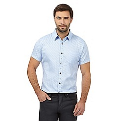 Jeff Banks - Big and tall blue teardrop print regular fit shirt