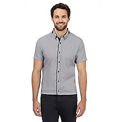 Jeff Banks - Dark grey triangle print regular fit shirt