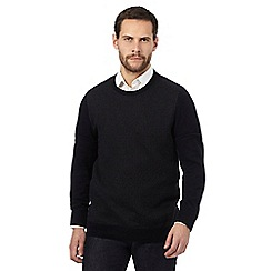 Jeff Banks - Big and tall navy patterned jumper