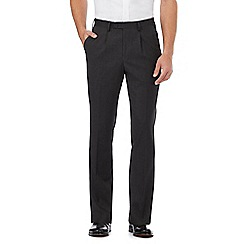 Jeff Banks - Dark grey brushed striped trousers