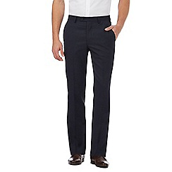 Jeff Banks - Navy textured birdseye trousers