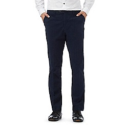 Jeff Banks - Navy straight leg smart chinos