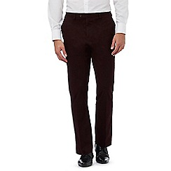 Jeff Banks - Big and tall dark red straight leg trousers