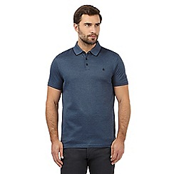 Jeff Banks - Big and tall blue fine striped polo shirt