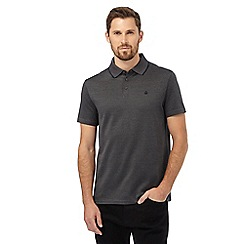 Jeff Banks - Big and tall dark grey fine striped polo shirt