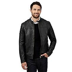 Jeff Banks - Black leather biker jacket