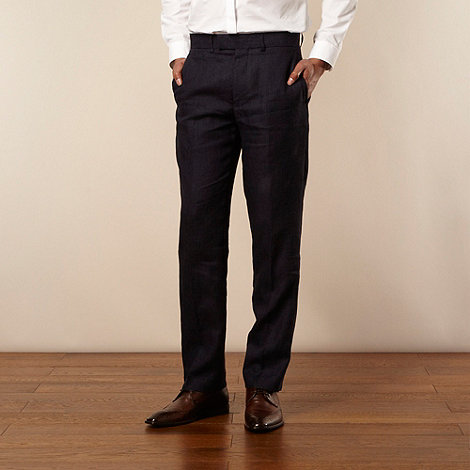 Jeff Banks - Designer navy linen trousers