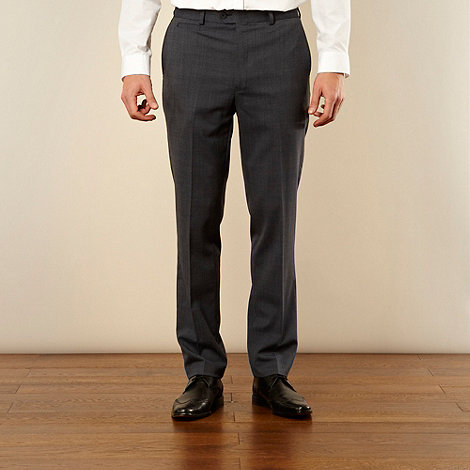 Jeff Banks - Big and tall blue slim fit trousers