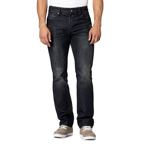 Jeff Banks - Designer navy straight leg jeans