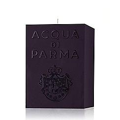 ACQUA DI PARMA - Black 'Amber' scented cube candle