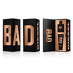 Diesel - 'Bad' eau de toilette 50ml Christmas gift set