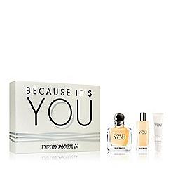 ARMANI - 'Because It's You' perfume Christmas gift set