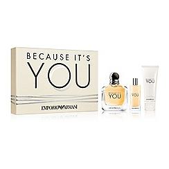 ARMANI - 'Because It's You' eau de parfum gift set