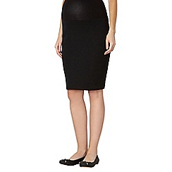 Red Herring Maternity - Black textured maternity pencil skirt