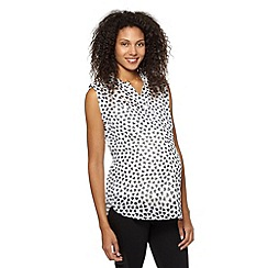 Red Herring Maternity - Ivory heart print maternity blouse