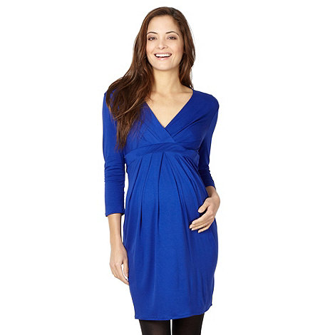 Red Herring Maternity - Royal blue tie back jersey maternity dress