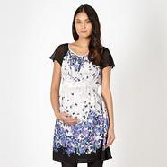 Maternity grey butterfly tea dress