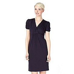 Red Herring Maternity - Navy jersey wrap nursing dress