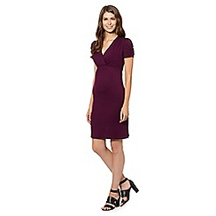 Red Herring Maternity - Plum jersey nursing dress