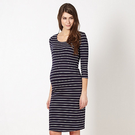 Red Herring Maternity - Navy striped jersey maternity dress