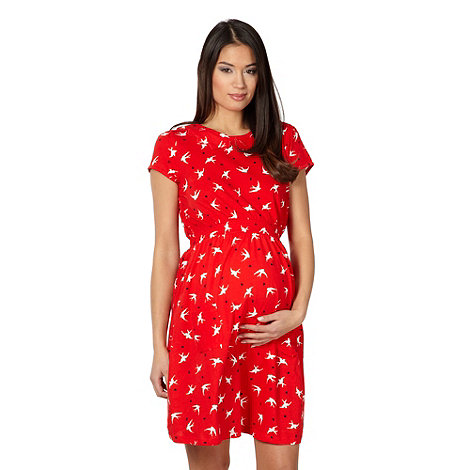 Red Herring Maternity - Red swallow maternity tunic