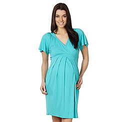 Red Herring Maternity - Aqua kimono sleeve maternity dress