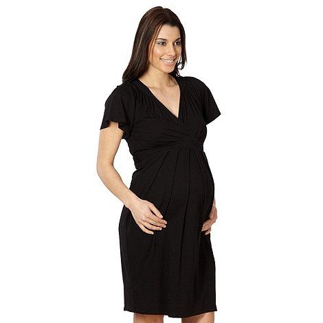 Red Herring Maternity - Black kimono sleeve maternity dress