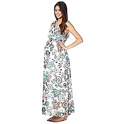 Red Herring Maternity - Ivory floral maternity maxi dress