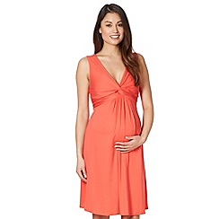 Red Herring Maternity - Orange knot front jersey maternity dress