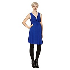 Red Herring Maternity - Royal blue knot front jersey maternity dress