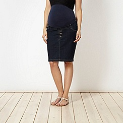 Red Herring Maternity - Dark blue maternity denim skirt